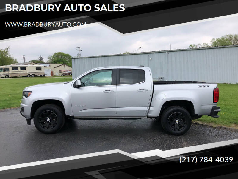 2018 Chevrolet Colorado for sale at BRADBURY AUTO SALES in Gibson City IL