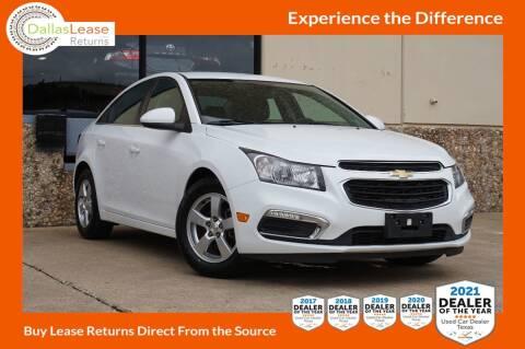 2015 Chevrolet Cruze for sale at Dallas Auto Finance in Dallas TX