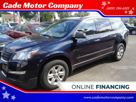 2017 Chevrolet Traverse for sale at Cade Motor Company in Lawrence Township NJ