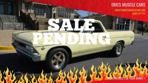1966 Chevrolet El Camino for sale at Erics Muscle Cars in Clarksburg MD