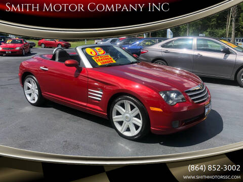 2005 Chrysler Crossfire for sale at Smith Motor Company INC in Mc Cormick SC