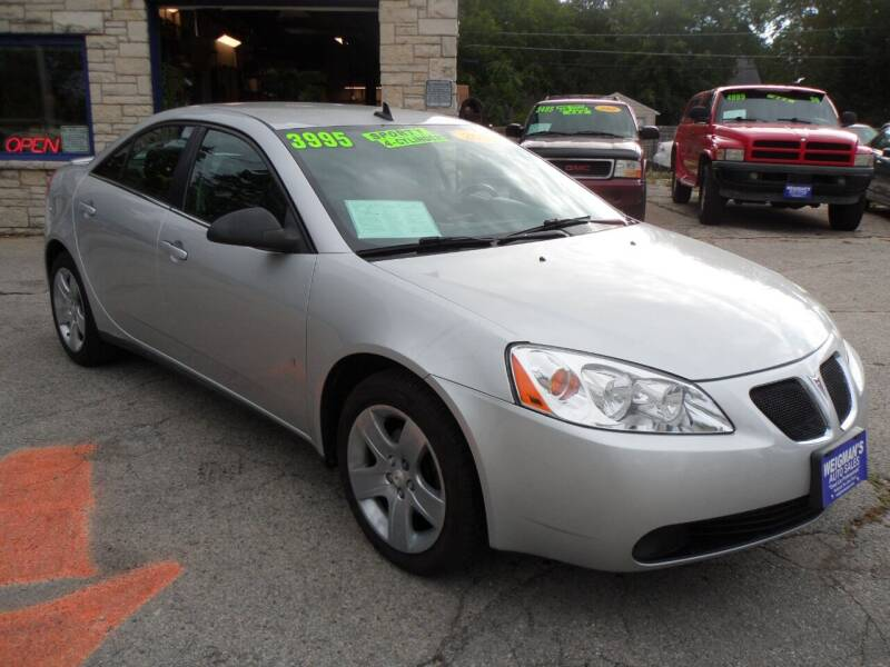 2009 Pontiac G6 for sale at Weigman's Auto Sales in Milwaukee WI