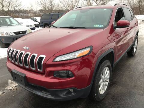 2017 Jeep Cherokee for sale at Rinaldi Auto Sales Inc in Taylor PA