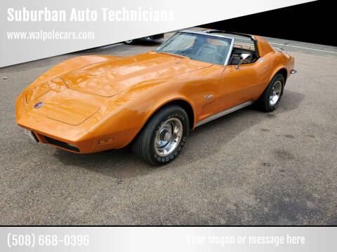 1973 Chevrolet Corvette for sale at Suburban Auto Technicians in Walpole MA