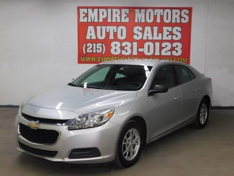 2014 Chevrolet Malibu for sale at EMPIRE MOTORS AUTO SALES in Philadelphia PA