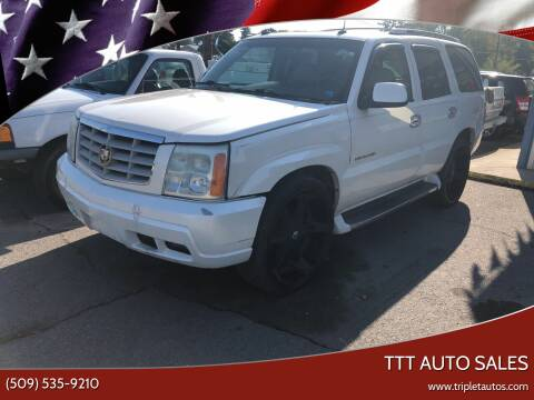 2003 Cadillac Escalade for sale at TTT Auto Sales in Spokane WA
