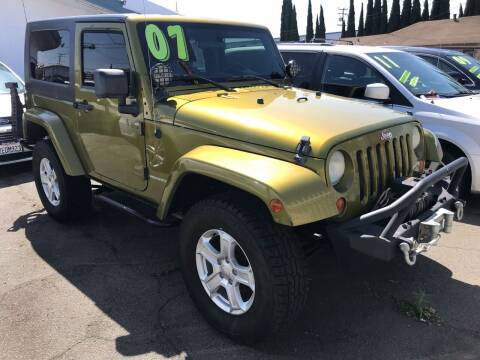 2007 Jeep Wrangler for sale at CAR GENERATION CENTER, INC. in Los Angeles CA