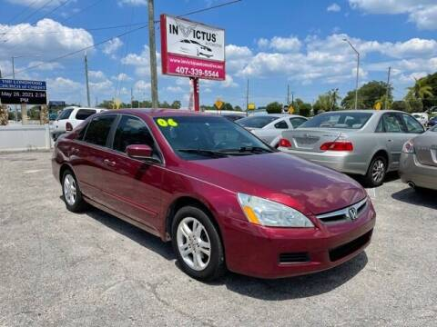 2006 Honda Accord for sale at Invictus Automotive in Longwood FL