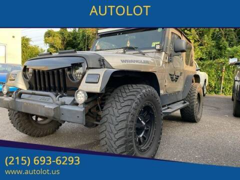 2005 Jeep Wrangler for sale at AUTOLOT in Bristol PA