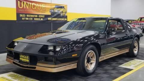 1984 Chevrolet Camaro for sale at UNIQUE SPECIALTY & CLASSICS in Mankato MN