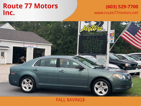 2009 Chevrolet Malibu for sale at Route 77 Motors Inc. in Weare NH