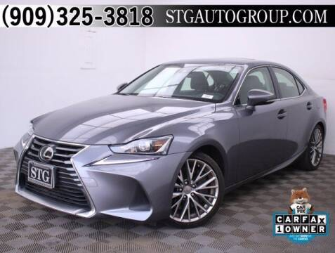 2017 Lexus IS 200t for sale at STG Auto Group in Montclair CA