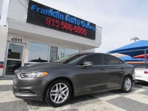 2016 Ford Fusion for sale at Franklin Auto Sales in El Paso TX