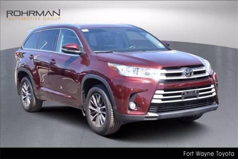 2018 Toyota Highlander for sale at BOB ROHRMAN FORT WAYNE TOYOTA in Fort Wayne IN