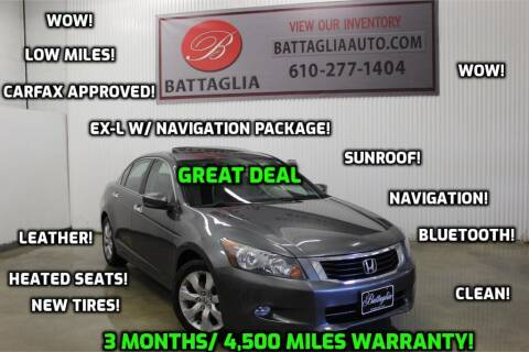 2010 Honda Accord for sale at Battaglia Auto Sales in Plymouth Meeting PA