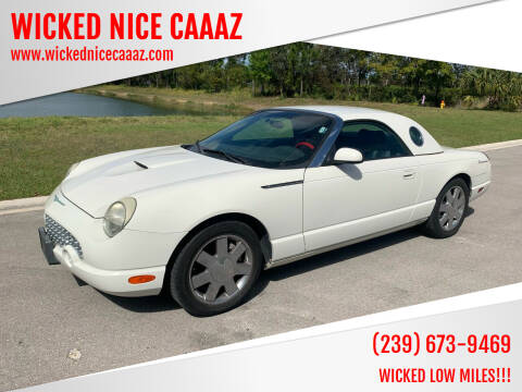 2002 Ford Thunderbird for sale at WICKED NICE CAAAZ in Cape Coral FL