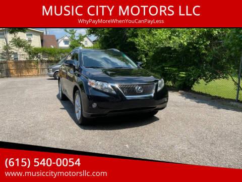 2012 Lexus RX 350 for sale at MUSIC CITY MOTORS LLC in Nashville TN