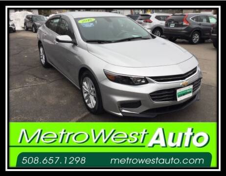 2016 Chevrolet Malibu for sale at Metro West Auto in Bellingham MA