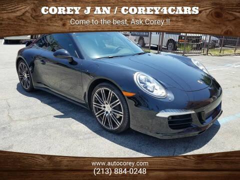 2016 Porsche 911 for sale at WWW.COREY4CARS.COM / COREY J AN in Los Angeles CA