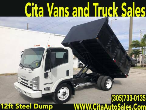 2016 ISUZU NPR 12 FT LANSCAPE DUMP TRUCK for sale at Cita Auto Sales in Medley FL