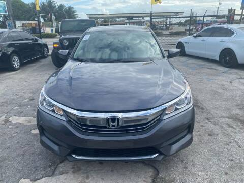 2017 Honda Accord for sale at America Auto Wholesale Inc in Miami FL