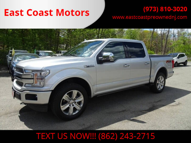 2018 Ford F-150 for sale at East Coast Motors in Lake Hopatcong NJ
