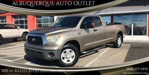 2007 Toyota Tundra for sale at ALBUQUERQUE AUTO OUTLET in Albuquerque NM
