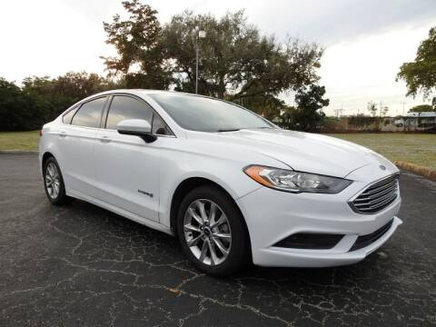 2017 Ford Fusion Hybrid for sale at SUPER DEAL MOTORS in Hollywood FL