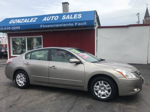 2012 Nissan Altima for sale at Gonzalez Auto Sales in Joliet IL