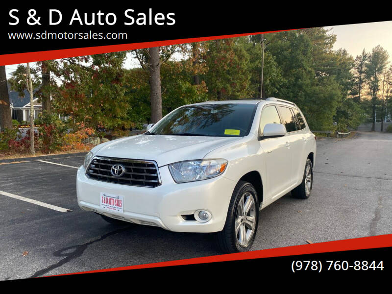 2008 Toyota Highlander for sale at S & D Auto Sales in Maynard MA