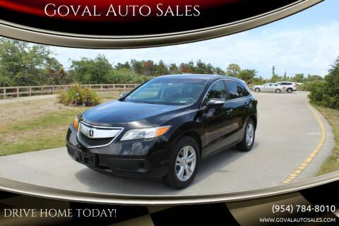 2013 Acura RDX for sale at Goval Auto Sales in Pompano Beach FL