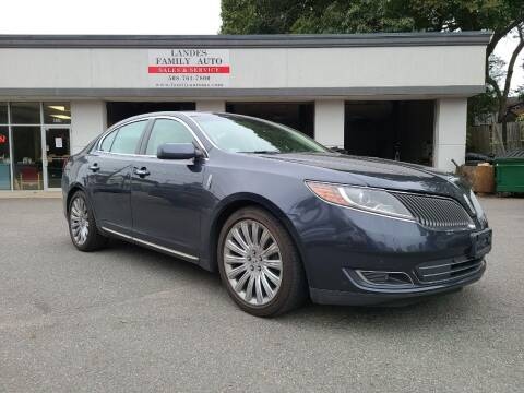 2013 Lincoln MKS for sale at Landes Family Auto Sales in Attleboro MA