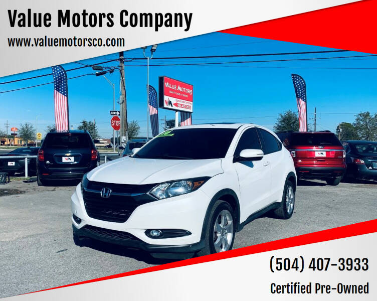 2016 Honda HR-V for sale at Value Motors Company in Marrero LA