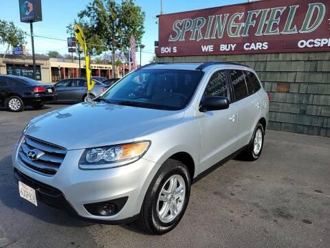 2012 Hyundai Santa Fe for sale at SPRINGFIELD BROTHERS LLC in Fullerton CA