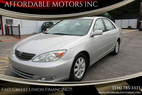 2003 Toyota Camry for sale at AFFORDABLE MOTORS INC in Winston Salem NC