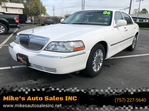2006 Lincoln Town Car for sale at Mike's Auto Sales INC in Chesapeake VA