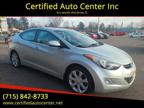 2013 Hyundai Elantra for sale at Certified Auto Center Inc in Wausau WI