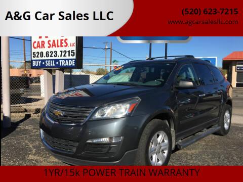 2013 Chevrolet Traverse for sale at A&G Car Sales  LLC in Tucson AZ
