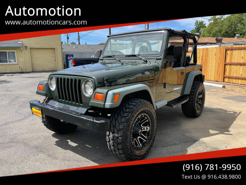 1997 Jeep Wrangler for sale at Automotion in Roseville CA