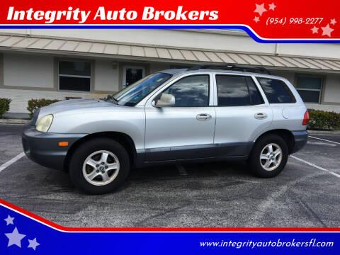 2004 Hyundai Santa Fe for sale at Integrity Auto Brokers in Pompano Beach FL