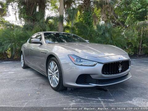 2016 Maserati Ghibli for sale at Autohaus of Naples in Naples FL