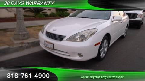 2005 Lexus ES 330 for sale at Prestige Auto Sports Inc in North Hollywood CA