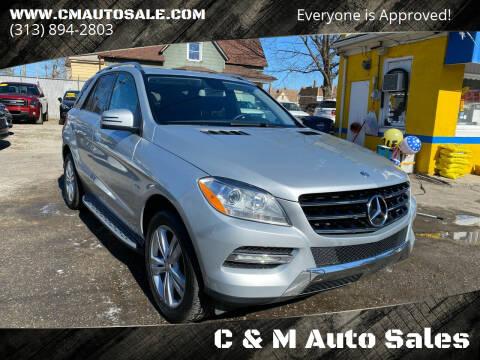 2012 Mercedes-Benz M-Class for sale at C & M Auto Sales in Detroit MI