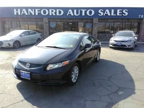 2012 Honda Civic for sale at Hanford Auto Sales in Hanford CA