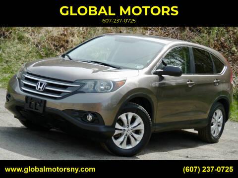 2013 Honda CR-V for sale at GLOBAL MOTORS in Binghamton NY
