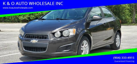 2014 Chevrolet Sonic for sale at K & O AUTO WHOLESALE INC in Jacksonville FL