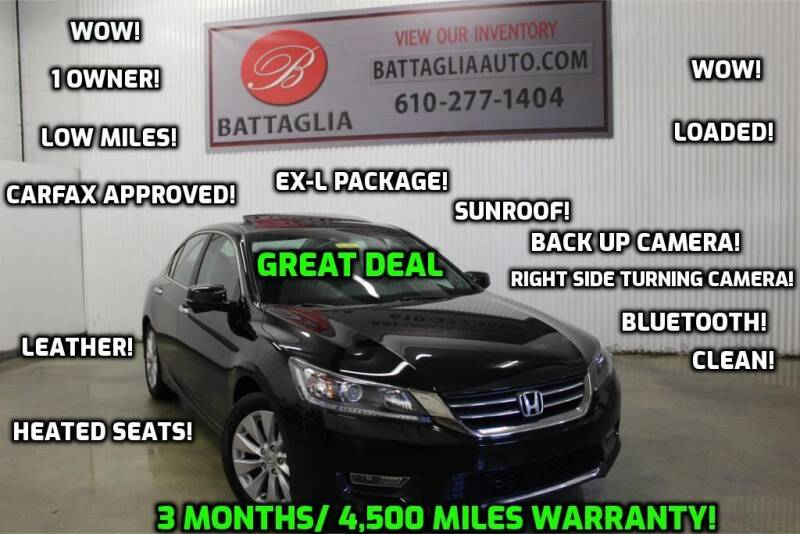 2013 Honda Accord for sale at Battaglia Auto Sales in Plymouth Meeting PA