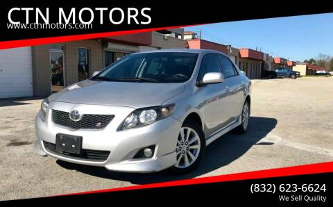 2010 Toyota Corolla for sale at CTN MOTORS in Houston TX