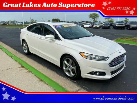 2015 Ford Fusion for sale at Great Lakes Auto Superstore in Waterford Township MI