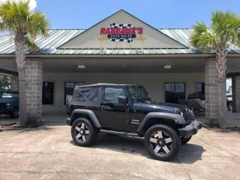 2011 Jeep Wrangler for sale at Rabeaux's Auto Sales in Lafayette LA
